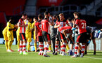 SOUTHAMPTON, ENGLAND - JUNE 25: Players take a drinks nreak during the Premier League match between Southampton FC and Arsenal FC at St Mary's Stadium on June 25, 2020 in Southampton, United Kingdom. (Photo by Matt Watson/Southampton FC via Getty Images)