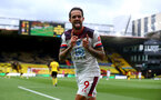 WATFORD, ENGLAND - JUNE 28: Danny Ings second goal celebration during the Premier League match between Watford FC and Southampton FC at Vicarage Road on April 4, 2020 in Watford, United Kingdom. (Photo by Matt Watson/Southampton FC via Getty Images)
