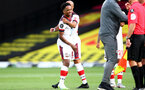WATFORD, ENGLAND - JUNE 28: Kyla Walker-Peters during the Premier League match between Watford FC and Southampton FC at Vicarage Road on April 4, 2020 in Watford, United Kingdom. (Photo by Matt Watson/Southampton FC via Getty Images)