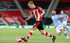 SOUTHAMPTON, ENGLAND - JULY 05: James Ward-Prowse during the Premier League match between Southampton FC and Manchester City at St Mary's Stadium on July 5, 2020 in Southampton, United Kingdom. Football Stadiums around Europe remain empty due to the Coronavirus Pandemic as Government social distancing laws prohibit fans inside venues resulting in games being played behind closed doors. (Photo by Chris Moorhouse/Southampton FC via Getty Images)