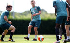 SOUTHAMPTON, ENGLAND - JULY 11: James Ward-Prowse during a Southampton FC training session at the Staplewood Campus on July 11, 2020 in Southampton, England. (Photo by Matt Watson/Southampton FC via Getty Images)