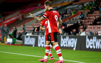 SOUTHAMPTON, ENGLAND - JULY 16: Danny Ings celebrating goal during the Premier League match between Southampton FC and Brighton & Hove Albion at St Mary's Stadium on July 16, 2020 in Southampton, United Kingdom. Football Stadiums around Europe remain empty due to the Coronavirus Pandemic as Government social distancing laws prohibit fans inside venues resulting in all fixtures being played behind closed doors. (Photo by Matt Watson/Southampton FC via Getty Images)