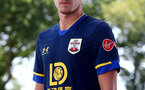 SOUTHAMPTON, ENGLAND - JULY 23: James Ward-Prowse pictured wearing the new Southampton FC away kit for the 2020/21 season, at the Staplewood Campus on July 23, 2020 in Southampton, England. (Photo by Matt Watson/Southampton FC via Getty Images)