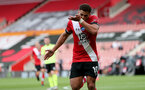 SOUTHAMPTON, ENGLAND - JULY 26: Ché Adams celebrates second goal during the Premier League match between Southampton FC and Sheffield United at St Mary's Stadium on April 17, 2020 in Southampton, United Kingdom. (Photo by Chris Moorhouse/Southampton FC via Getty Images)