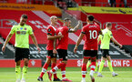 SOUTHAMPTON, ENGLAND - JULY 26: Danny Ings celebrating goal with team mates during the Premier League match between Southampton FC and Sheffield United at St Mary's Stadium on April 17, 2020 in Southampton, United Kingdom. (Photo by Matt Watson/Southampton FC via Getty Images)