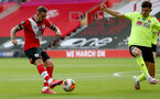 SOUTHAMPTON, ENGLAND - JULY 26: Danny Ings(L) of Southampton during the Premier League match between Southampton FC and Sheffield United at St Mary's Stadium on July 26, 2020 in Southampton, United Kingdom. (Photo by Matt Watson/Southampton FC via Getty Images)