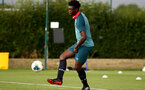 SOUTHAMPTON, ENGLAND - August 13: Leon Pambou during a Southampton U18 training session at Staplewood Training ground on August 13, 2020 in Southampton, England. (Photo by Isabelle Field/Southampton FC via Getty Images)