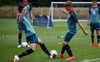 SOUTHAMPTON, ENGLAND - August 13: Lewis Payne (L) during a Southampton U18 training session at Staplewood Training ground on August 13, 2020 in Southampton, England. (Photo by Isabelle Field/Southampton FC via Getty Images)