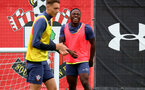SOUTHAMPTON, ENGLAND - AUGUST 25: Michael Obafemi during a Southampton FC training session at the Staplewood Campus on August 25, 2020 in Southampton, England. (Photo by Matt Watson/Southampton FC via Getty Images)