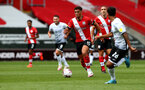 SOUTHAMPTON, ENGLAND - AUGUST 29: Ché Adams during a pre-season friendly between Southampton FC and Swansea City at St Marys Stadium, on August 29, 2020 in Southampton, England. (Photo by Matt Watson/Southampton FC via Getty Images)