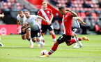 SOUTHAMPTON, ENGLAND - AUGUST 29: Danny Ings scores from the penalty spot during a pre-season friendly between Southampton FC and Swansea City at St Marys Stadium, on August 29, 2020 in Southampton, England. (Photo by Matt Watson/Southampton FC via Getty Images)