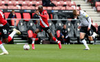 SOUTHAMPTON, ENGLAND - AUGUST 29: Moussa Djenepo during a pre-season friendly between Southampton FC and Swansea City at St Marys Stadium, on August 29, 2020 in Southampton, England. (Photo by Matt Watson/Southampton FC via Getty Images)