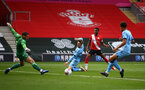 SOUTHAMPTON, ENGLAND - SEPTEMBER 1: Nathan Tella of Southampton attempt on goal during a pre-season friendly match between Southampton U23 and Coventry City at St Mary's Stadium on September 1, 2020 in Southampton, United Kingdom. (Photo by Isabelle Field/Southampton FC)