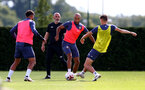 SOUTHAMPTON, ENGLAND - SEPTEMBER 02: Nathan Redmond(L) and Will Smallbone during a Southampton FC training session at the Staplewood Campus on September 02, 2020 in Southampton, England. (Photo by Matt Watson/Southampton FC via Getty Images)