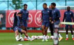 SOUTHAMPTON, ENGLAND - SEPTEMBER 03: Sofiane Boufal(L) during a Southampton FC training session at the Staplewood Campus on September 03, 2020 in Southampton, England. (Photo by Matt Watson/Southampton FC via Getty Images)