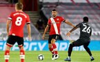 SOUTHAMPTON, ENGLAND - SEPTEMBER 16: Jack Stephens of Southampton (L) during the second round of the Carabao Cup match between Southampton FC and Brentford FC at St. Mary's Stadium on September 16, 2020 in Southampton, England. (Photo by Matt Watson/Southampton FC via Getty Images)