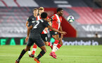 SOUTHAMPTON, ENGLAND - SEPTEMBER 16: Nathan Tella (R) of Southampton during the second round of the Carabao Cup match between Southampton FC and Brentford FC at St. Mary's Stadium on September 16, 2020 in Southampton, England. (Photo by Matt Watson/Southampton FC via Getty Images)
