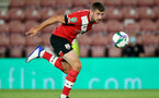 SOUTHAMPTON, ENGLAND - SEPTEMBER 16: Jack Stephens of Southampton during the second round of the Carabao Cup match between Southampton FC and Brentford FC at St. Mary's Stadium on September 16, 2020 in Southampton, England. (Photo by Chris Moorhouse/Southampton FC via Getty Images)