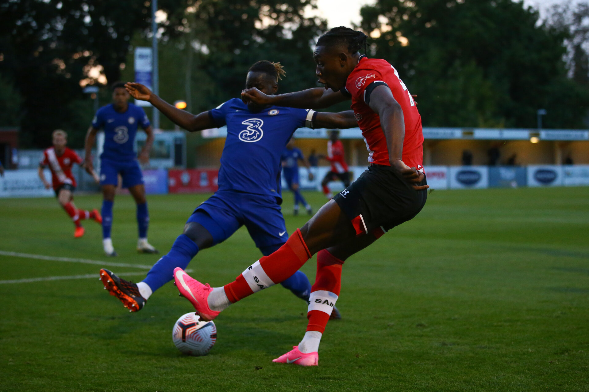 SOUTHAMPTON, ENGLAND - SEPTEMBER 18: during the Premier League 2 match between Southampton FC B Team and Chelsea FC at Snows Stadium on September 18, 2020 in Southampton, England. (Photo by Isabelle Field/Southampton FC via Getty Images)