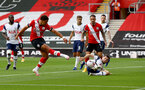 SOUTHAMPTON, ENGLAND - SEPTEMBER 20: Ché Adams of Southampton during the Premier League match between Southampton and Tottenham Hotspur at St Mary's Stadium on September 20, 2020 in Southampton, United Kingdom. (Photo by Matt Watson/Southampton FC via Getty Images)