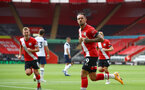 SOUTHAMPTON, ENGLAND - SEPTEMBER 20: Danny Ings of Southampton celebrates after opening the scoring during the Premier League match between Southampton and Tottenham Hotspur at St Mary's Stadium on September 20, 2020 in Southampton, United Kingdom. (Photo by Matt Watson/Southampton FC via Getty Images)