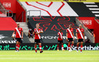 SOUTHAMPTON, ENGLAND - SEPTEMBER 20: Southampton players dejected during the Premier League match between Southampton and Tottenham Hotspur at St Mary's Stadium on September 20, 2020 in Southampton, United Kingdom. (Photo by Matt Watson/Southampton FC via Getty Images)