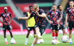 SOUTHAMPTON, ENGLAND - SEPTEMBER 20: Stuart Armstrong during the Premier League match between Southampton and Tottenham Hotspur at St Mary's Stadium on September 20, 2020 in Southampton, United Kingdom. (Photo by Chris Moorhouse/Southampton FC via Getty Images)