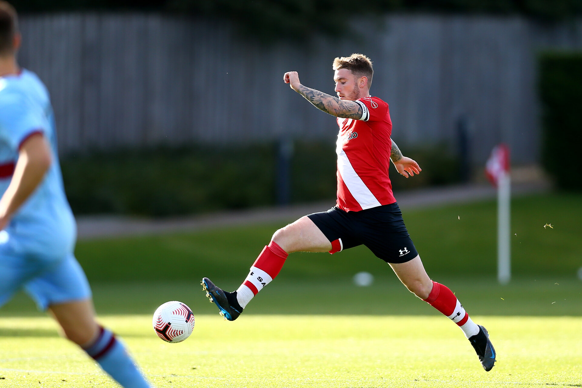 SOUTHAMPTON, ENGLAND - SEPTEMBER 26: during Premier League 2 Match between Southampton B Team and West Ham United at Staplewood Training Ground on September 26, 2020 in Southampton, England. (Photo by Isabelle Field/Southampton FC via Getty Images)