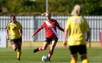 Southampton, ENGLAND - SEPTEMBER 27: Rosie Parnell (center) of Southampton during the FAWNL match between Southampton Women and Buckland Athletic at Snows Stadium on September 27, 2020 in Southampton, United Kingdom (Photo by Isabelle Field/Southampton FC via Getty Images)
