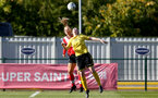 Southampton, ENGLAND - SEPTEMBER 27: Rodie Parnell (L) of Southampton during the FAWNL match between Southampton Women and Buckland Athletic at Snows Stadium on September 27, 2020 in Southampton, United Kingdom (Photo by Isabelle Field/Southampton FC via Getty Images)