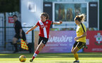 Southampton, ENGLAND - SEPTEMBER 27: Tilly Thomas (L) of Southampton during the FAWNL match between Southampton Women and Buckland Athletic at Snows Stadium on September 27, 2020 in Southampton, United Kingdom (Photo by Isabelle Field/Southampton FC via Getty Images)