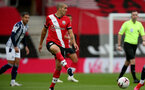 SOUTHAMPTON, ENGLAND - OCTOBER 04: Oriol Romeu of Southampton during the Premier League match between Southampton and West Bromwich Albion at St Mary's Stadium on October 4, 2020 in Southampton, United Kingdom. Sporting stadiums around the UK remain under strict restrictions due to the Coronavirus Pandemic as Government social distancing laws prohibit fans inside venues resulting in games being played behind closed doors. (Photo by Chris Moorhouse/Southampton FC via Getty Images)