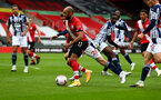 SOUTHAMPTON, ENGLAND - OCTOBER 04: Nathan Redmond of Southampton during the Premier League match between Southampton and West Bromwich Albion at St Mary's Stadium on October 04, 2020 in Southampton, United Kingdom. Sporting stadiums around the UK remain under strict restrictions due to the Coronavirus Pandemic as Government social distancing laws prohibit fans inside venues resulting in games being played behind closed doors. (Photo by Matt Watson/Southampton FC via Getty Images)