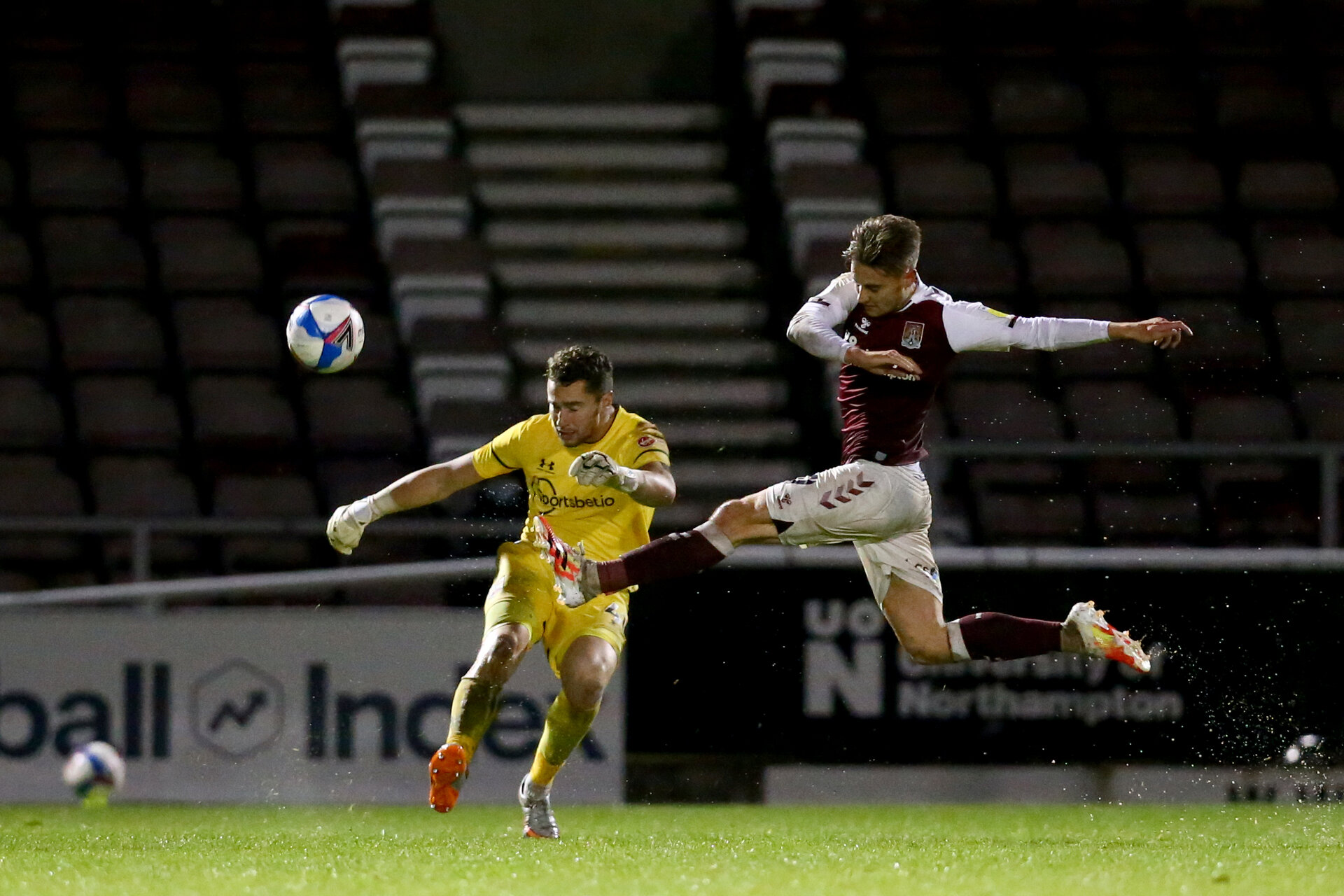 NORTHAMPTON, ENGLAND - OCTOBER 06: during EFL Cup match between Northampton Town FC and Southampton FC B Team at the PTS Academy Stadium on October 6, 2020 in Northampton, England. (Photo by Isabelle Field/Southampton FC via Getty Images)