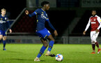 NORTHAMPTON, ENGLAND - OCTOBER 06: Kgaogelo Chauke of Southampton during EFL Cup match between Northampton Town FC and Southampton FC B Team at the PTS Academy Stadium on October 6, 2020 in Northampton, England. (Photo by Isabelle Field/Southampton FC via Getty Images)