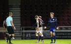 NORTHAMPTON, ENGLAND - OCTOBER 06: Jake Hesketh (R) of Southampton during EFL Cup match between Northampton Town FC and Southampton FC B Team at the PTS Academy Stadium on October 6, 2020 in Northampton, England. (Photo by Isabelle Field/Southampton FC via Getty Images)