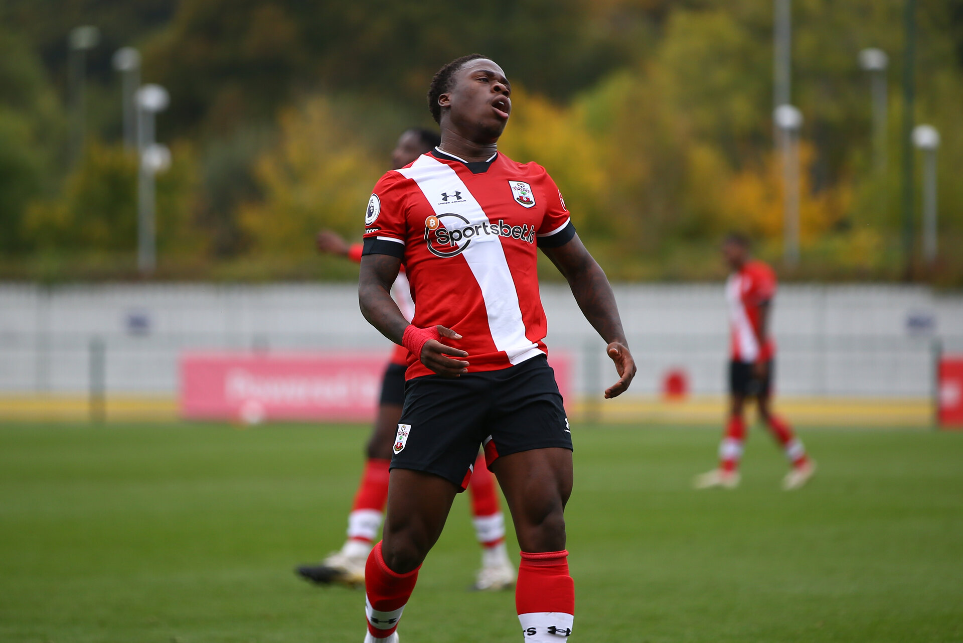 SOUTHAMPTON, ENGLAND - OCTOBER 18:  during the Premier League 2 match between Southampton FC B Team and Blackburn Rovers FC at Snows Stadium on October 18, 2020 in Southamtpon, United Kingdom. (Photo by Isabelle Field/Southampton FC via Getty Images)