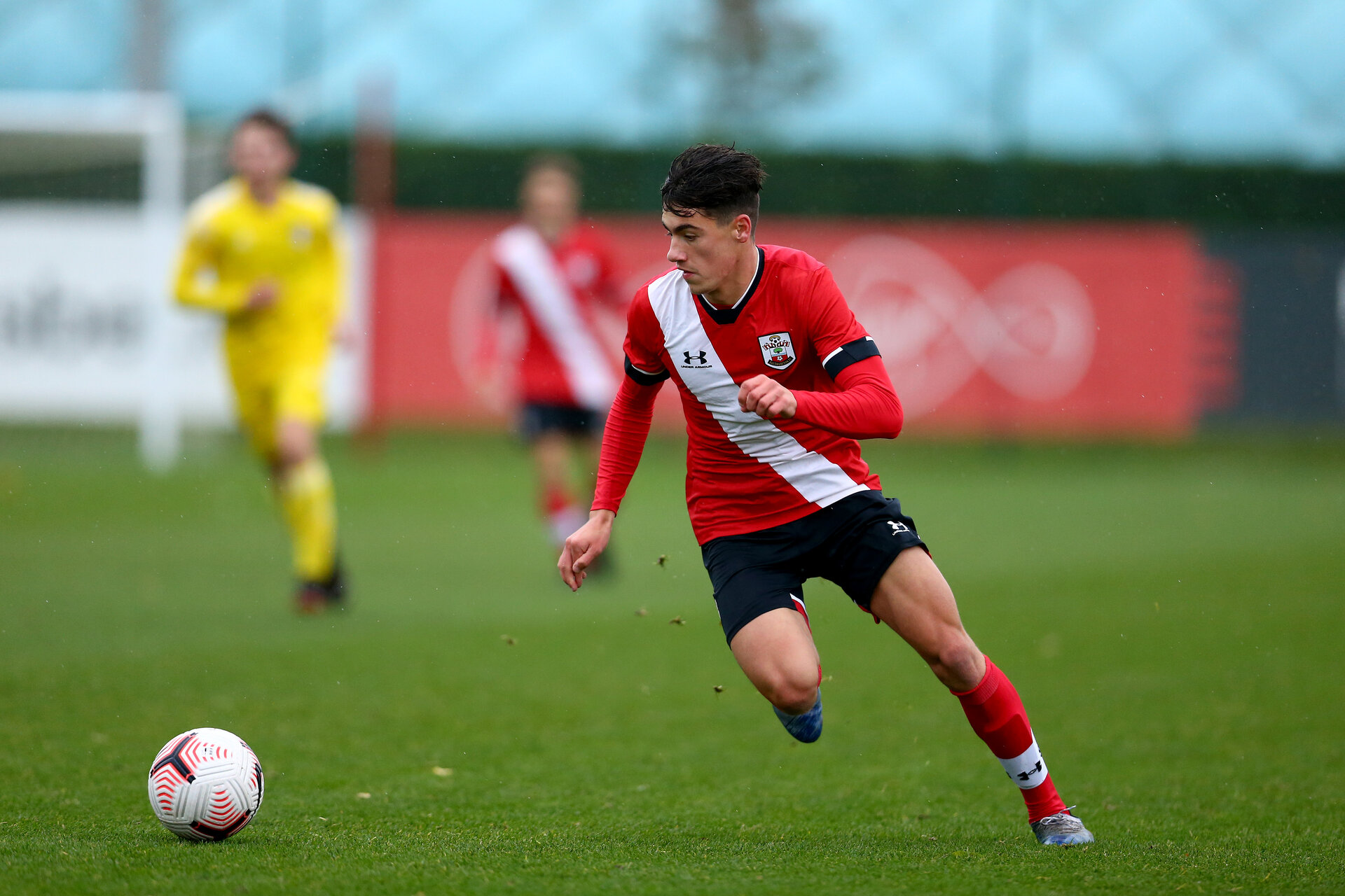 SOUTHAMPTON, ENGLAND - OCTOBER 31: Marco Rus of Southampton during the Premier League U18s match between Southampton U18s and Fulham FC at Staplewood Training Ground on October 31, 2020 in Southampton, England. (Photo by Isabelle Field/Southamtpon FC)