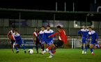 SOUTHAMPTON, ENGLAND - NOVEMBER 02: Enzo Robise of Southampton takes penalty during the Hampshire FA Senior Cup semi-final between Eastleigh FC and Southampton FC B Team at Silverlake Stadium on November 02, 2020 in Southampton, England. (Photo by Isabelle Field/Southampton FC via Getty Images) (Photo by Isabelle Field/Isabelle Field)