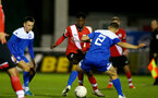 SOUTHAMPTON, ENGLAND - NOVEMBER 02: Kgaogelo Chauke(center) of Southampton during the Hampshire FA Senior Cup semi-final between Eastleigh FC and Southampton FC B Team at Silverlake Stadium on November 02, 2020 in Southampton, England. (Photo by Isabelle Field/Southampton FC via Getty Images) (Photo by Isabelle Field/Isabelle Field)