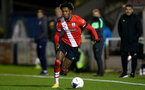 SOUTHAMPTON, ENGLAND - NOVEMBER 02: Ramello Mitchell of Southampton during the Hampshire FA Senior Cup semi-final between Eastleigh FC and Southampton FC B Team at Silverlake Stadium on November 02, 2020 in Southampton, England. (Photo by Isabelle Field/Southampton FC via Getty Images) (Photo by Isabelle Field/Isabelle Field)