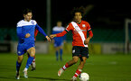 SOUTHAMPTON, ENGLAND - NOVEMBER 02: Caleb Watts(R) of Southampton during the Hampshire FA Senior Cup semi-final between Eastleigh FC and Southampton FC B Team at Silverlake Stadium on November 02, 2020 in Southampton, England. (Photo by Isabelle Field/Southampton FC via Getty Images) (Photo by Isabelle Field/Isabelle Field)