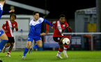 SOUTHAMPTON, ENGLAND - NOVEMBER 02: Tyreke Johnson(R) of Southampton during the Hampshire FA Senior Cup semi-final between Eastleigh FC and Southampton FC B Team at Silverlake Stadium on November 02, 2020 in Southampton, England. (Photo by Isabelle Field/Southampton FC via Getty Images) (Photo by Isabelle Field/Isabelle Field)