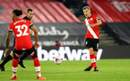 SOUTHAMPTON, ENGLAND - NOVEMBER 06: James Ward-Prowse(L) of Southampton during the Premier League match between Southampton and Newcastle United at St Mary's Stadium on November 06, 2020 in Southampton, England. Sporting stadiums around the UK remain under strict restrictions due to the Coronavirus Pandemic as Government social distancing laws prohibit fans inside venues resulting in games being played behind closed doors. (Photo by Matt Watson/Southampton FC via Getty Images)