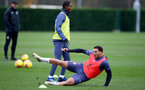 SOUTHAMPTON, ENGLAND - NOVEMBER 26: Ibrahima Diallo(L) and Che Adams during a Southampton FC training session at the Staplewood Campus on November 26, 2020 in Southampton, England. (Photo by Matt Watson/Southampton FC via Getty Images)
