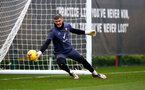 SOUTHAMPTON, ENGLAND - NOVEMBER 27: Fraser Forster during a Southampton FC training sesion at the Staplewood Campus on November 27, 2020 in Southampton, England. (Photo by Matt Watson/Southampton FC via Getty Images)