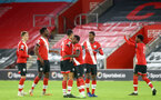 SOUTHAMPTON, ENGLAND - NOVEMBER 30: Southampton players ahead of the Premier League 2 match between Southampton FC B Team and Brighton & Hove Albion at the St Mary's Stadium on November 30, 2020 in Southampton, England. (Photo by Isabelle Field/Southampton FC via Getty Images)