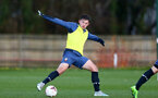 SOUTHAMPTON, ENGLAND - DECEMBER 03 : Sam Bellis during Southampton U18s training session at Staplewood Complex on December 03, 2020 in Southampton, England. (Photo by Isabelle Field/Southampton FC via Getty Images)