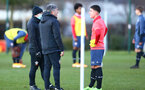 SOUTHAMPTON, ENGLAND - DECEMBER 03 : Paul Hardyman(L) and Goran Babic(R) during Southampton U18s training session at Staplewood Complex on December 03, 2020 in Southampton, England. (Photo by Isabelle Field/Southampton FC via Getty Images)