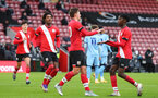 Southampton v Coventry City FA Youth cup at St Mary's Stadium. Southampton's Samuel Bellis scores Saint's second goal